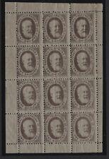 1884 1/- DULL RED NATIONAL TELEPHONE COMPANY LTD SHEET OF TWELVE