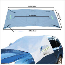 Windshield & Rear View Mirrors Protector Snow Ice Frost Cover For Car Small SUV