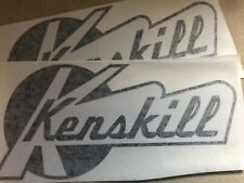 Kenskill Travel Trailer Vintage decals Black And White replacement set 2
