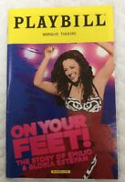 Playbill On Your Feet Broadway New York August 2016