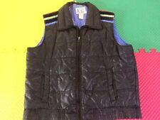 Rare Vintage Black Alpine Ski Vest Striped Shoulder Men's Size L Mint Condition