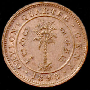 Ceylon Quarter (1/4) Cent 1898 (GLIC-003F)