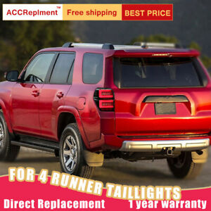 For Toyota 4Runner LED Taillights Assembly Dark LED Rear Lamps 2016-2021