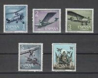 ESPAÑA (1961) NUEVOS SIN FIJASELLOS MNH SPAIN - EDIFIL 1401/05 AVIACION