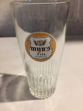 "Vintage~Imported~ ""Myn's Pils""~Beer Glass~10 oz.,Brasserie De Silly,Belgium,HTF!"