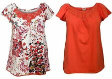 Cap Sleeve Scoop Neck Floral Tops & Shirts for Women