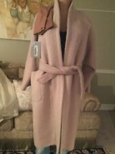 Max Mara Pink Blush Alpaca Blend Pulvino removable Lining  Pockets $3600 size 4