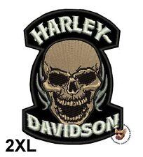 HARLEY DAVIDSON DEVOUR SKULL VEST * 2XL *PATCH WITH FLAMES OBSOLETE DESIGN