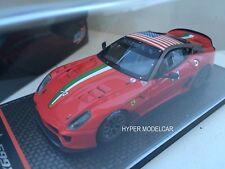 "BBR Models 1/43 Ferrari 599XX #4 ""Homestead Miami"" 2010 Red Art. BBRC42A"