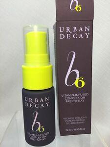 Urban Decay B6 Vitamin-Infused Complexion Prep Spray 0.5 Travel  Deluxe Sz