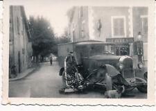 Accident Camion Moto Commerce Pompe Essence c. 1930 - PP 306