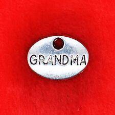 """6 x plaque Oval Argent Tibétain """"grand-mère"""" Charme Pendentif fabrication de bijoux"""