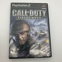 Call of Duty: Finest Hour PS2 Complete In Box (Sony PlayStation 2, 2004) Tested