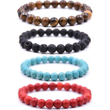 """HOT 8"""" Stone Beads Bracelet Elastic Stretch Bangle 8MM Round Bead Multi-Style"""