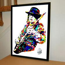 Stevie Ray Vaughan Srv Guitar Blues Rock Music Poster Print Wall Art 18x24