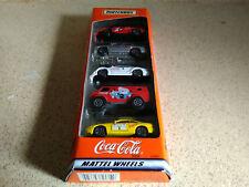 Matchbox Coca-Cola 5 Pack Gift Set, Mattel Wheels, 35999 1998 New Sealed