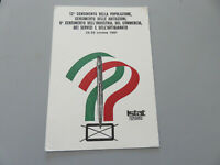 Carte Postale Publicité 12 Recensement De De L'Population Istat 1981