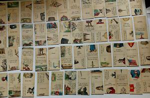 Kartenspiel um 1900 - extrem selten mit Lithographischen Abbildungen -48 Karten