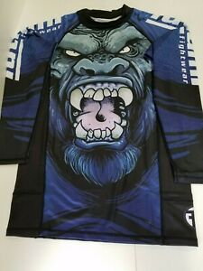 Tatami Gorilla Smash Grappling MMA BJJ Jiu Jitsu Long Sleeve LS Rashguard