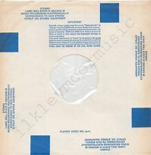 "Vintage INNER SLEEVE or SLEEVES 12"" BLOCKS blue STEREO SMALL poly-lined cut x 5"