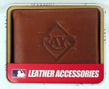 Tampa Bay Rays MLB Embossed Leather Billfold Wallet NEW in Gift Tin