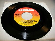 Barbra Streisand Evergreen (A Star Is Born) / Memory (Cats) 45 VG+ Juke Box