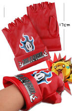 BLEACH COSPLAY GLOVES, RED, PAIR, NEW, UK