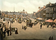 "P20 Vintage 1890's Photochrom Photo - Market Place Carlisle - Print A3 17""x12"""