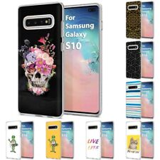 Thin Gel Design ShockProof Phone Case Cover for Samsung Galaxy S10,Skull Print