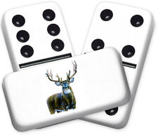 Wildlife Series Big Buck Design Double six Professional size Dominoes