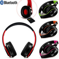 Foldable BT Headphones Over Ear Hi-Fi Stereo Wireless Headset With Mic