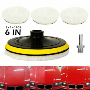 "5pcs Polishing Wheel Buffing Pads Set Car Wool Mop Kit Pad Polisher for Drill 6"""