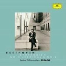 Beethoven: Symphonies Nos. 3 & 4, Berlin Philharmonic, Abbado, Cla, Good Origina