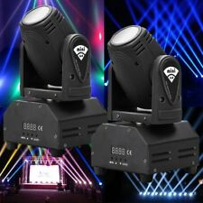 2X 20W RGBW LED Moving Head Spot Stage Light DMX512 DJ Disco Club Party Lighting
