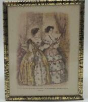 Antique 1854 Godey's Lady's Book Fashion Advertising Print Lithograph