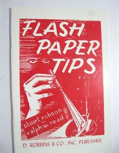 Flash Paper Tips How to Use with Bills Cards Silks Rope  Magic Tricks