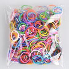 600pcs Rubber Hairband Elastic Rope Ponytail Holder Hair Band Ties Braid Fashion