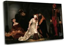 The Execution of Lady Jane Grey, P Delaroche Canvas Wall Art Picture Print