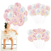 Magical Unicorn Confetti Balloons Helium Baby Shower Birthday Party Decoration