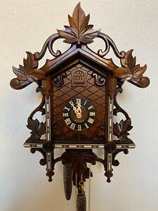 Schwarzwälder Kuckucksuhr 35cm NEU  Bahnhäusle -UhrBlack  Forest Cuckoo clock
