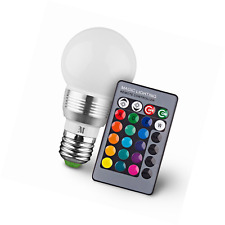 KOBRA Retro LED Color Changing Light Bulb w/ Remote Control & Effects E26 3W