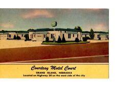 Postcard NE Grand Island Courtesy Motel Court Wm. Flamming c.1953 NE1
