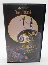 RARE VHS SECAM 4193/22 L'Étrange Noël de Monsieur Jack - TIM BURTON