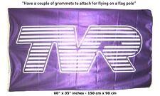 FREE SHIP TO USA TVR Car 3x5´ Purple great banner flag Tuscan Chimaera Cerbera