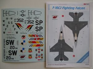 Eduard decals 1/32 F-16CJ USAF