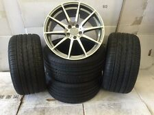 """19""""gm7 audi vw Mercedes Benz c/e/s class c63 Alloy Wheels Wider Rear with tyres"""