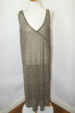 62cc195a83 VTG Anne Klein Sirena Sheer Paisley Swimsuit Cover Up Dress Brown Black Sz L