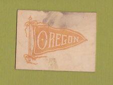 c1910 tobacco/ college leather L series UNIVERSITY OF OREGON #5  NICE...