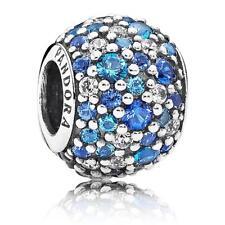 NEW! Authentic Pandora bracelet bead Charm Sky Mosaic Pave  791261NSBMX pouch