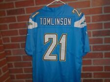 SAN DIEGO CHARGERS LADAINIAN TOMLINSON ALL SEWN MENS JERSEY SIZE XL